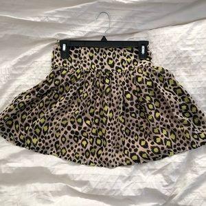 H&M Leopard Print Mini Skirt